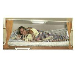 911623 Rete Protezione letto bambini 60x200cm anticaduta camper  con ganci CASG
