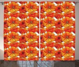 arancia Tenda Antique Bohemian Poppies