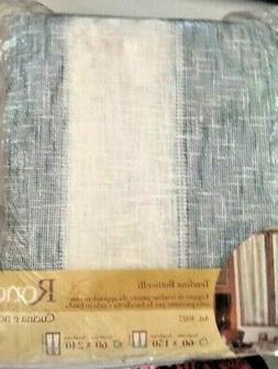 Coppia tendine tenda 60x240 cm bianco blu con passante e orl