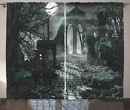 Gotico Tenda Moon View in scuro spaventoso