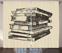 Libri Tenda Hand Drawn Vintage Old Books