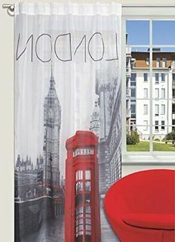 Splendid London - Tenda con passanti nascosti, 140 x 245 cm,
