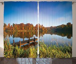 Scenario Tenda La pesca su una vista sul lago