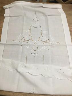 Tenda di tela di cotone bianco fatto ad intaglio a mano Legg