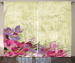 Vintage floreale Tenda Flora Grunge Tema